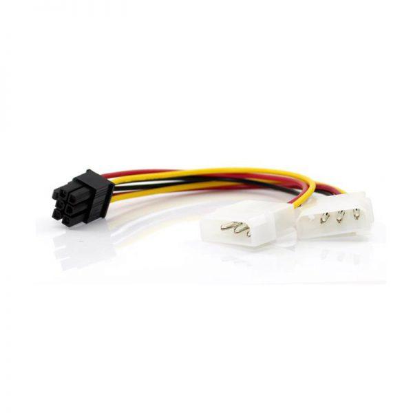 Dây chuyển 2 đầu nguồn 4 pin IDE ra 6 Pin cho VGA
