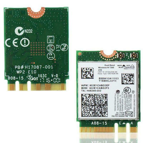 Card WIFI Intel AC 7260 khe M2 NGFF cho laptop
