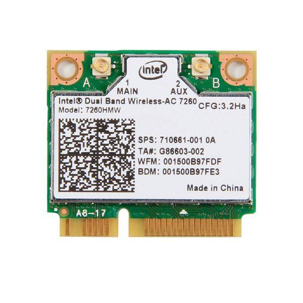 Card WIFI Dual Band Intel AC 7260 2.4Ghz và 5.0Ghz và Bluetooth 4.0