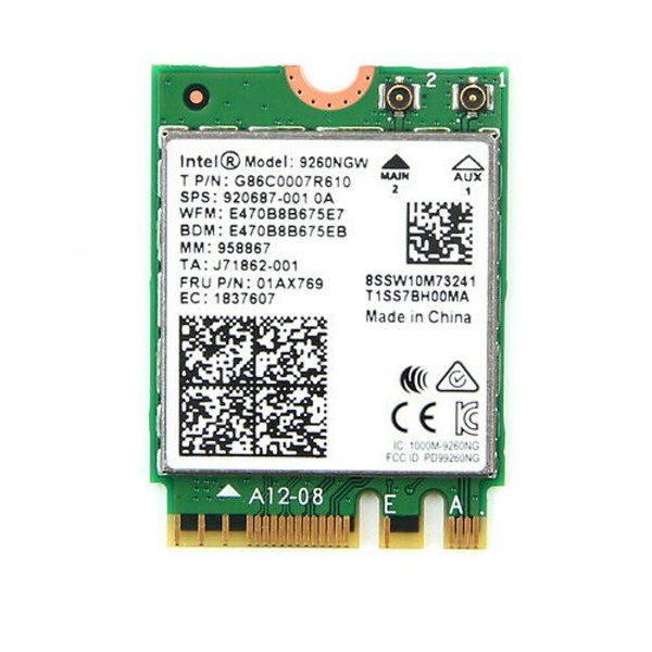 Card WIFI Intel AC 9260 khe M2 NGFF cho laptop