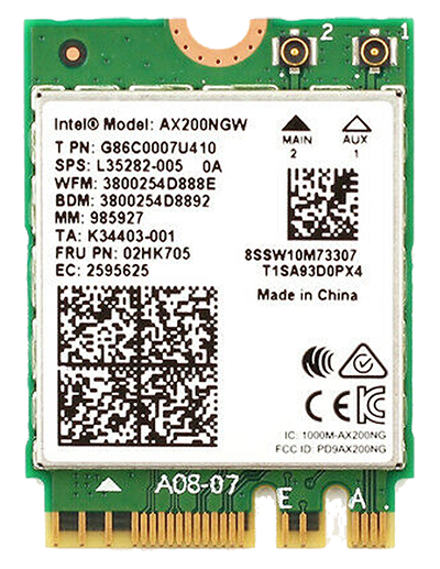 Card WIFI Intel AX200 M2