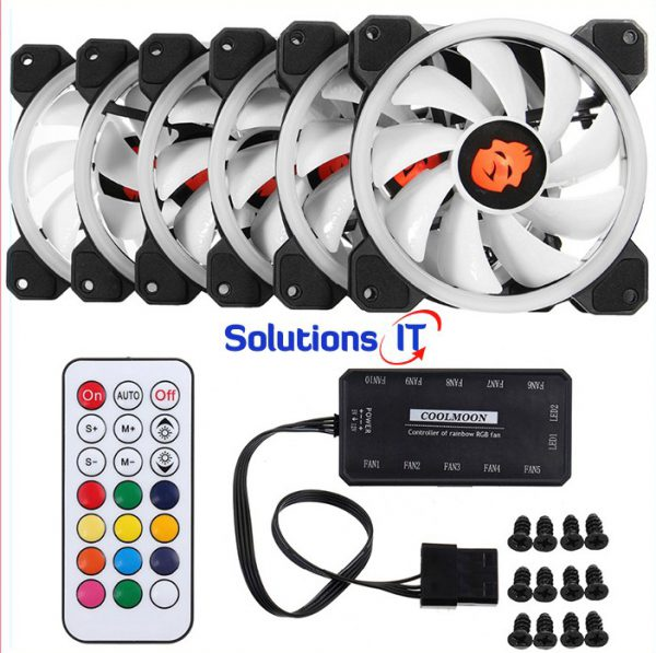 Bộ 3 quạt tản nhiệt cho máy tính Coolmoon V2 led RGB