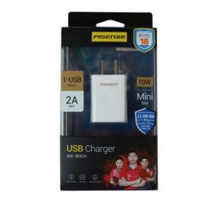 Cốc sạc Pisen USB Charger 2A - Sạc nhanh 10W - Hàng chính hãng