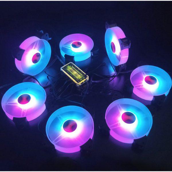 Bộ 3 quạt tản nhiệt cho máy tính Coolmoon Y1 led RGB