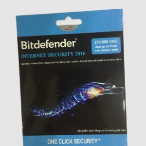 Phần mềm diệt virus Bitdefender Internet Security 1PC/ Năm